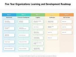 Five Year Organizations Learning And Development Roadmap