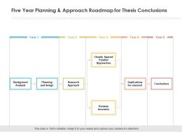 Five Year Planning And Approach Roadmap For Thesis Conclusions