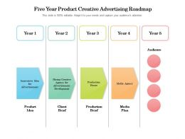 Five Year Product Creative Advertising Roadmap