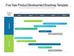 Five Year Product Development Roadmap Template