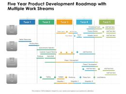 Five Year Product Development Roadmap With Multiple Work Streams