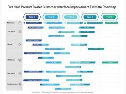 Five Year Product Owner Customer Interface Improvement Estimate Roadmap