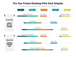 Five Year Product Roadmap Pitch Deck Template