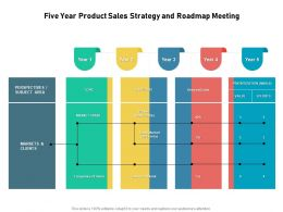 Five Year Product Sales Strategy And Roadmap Meeting