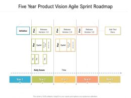 Five Year Product Vision Agile Sprint Roadmap