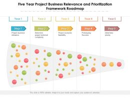 Five Year Project Business Relevance And Prioritization Framework Roadmap