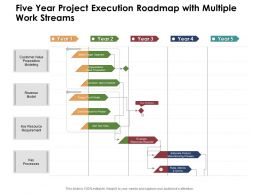 Five Year Project Execution Roadmap With Multiple Work Streams