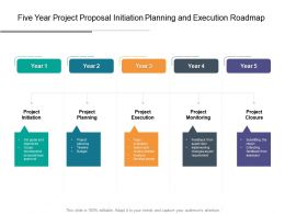 Five Year Project Proposal Initiation Planning And Execution Roadmap