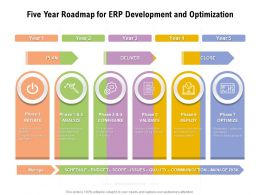 Five Year Roadmap For ERP Development And Optimization