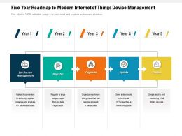 Five Year Roadmap To Modern Internet Of Things Device Management