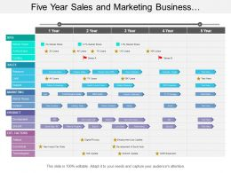 Five Year Sales And Marketing Business Development Timeline