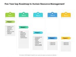 Five Year Sap Roadmap To Human Resource Management