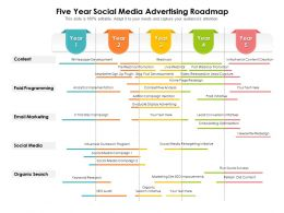 Five Year Social Media Advertising Roadmap