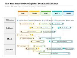 Five Year Software Development Swimlane Roadmap