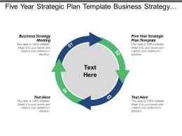 Five Year Strategic Plan Template Business Strategy Meeting Cpb