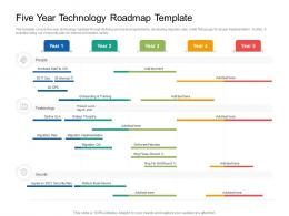 Five Year Technology Roadmap Timeline Powerpoint Template