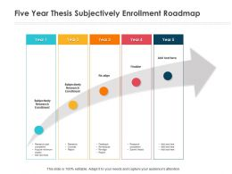Five Year Thesis Subjectively Enrollment Roadmap