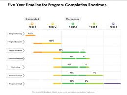 Five Year Timeline For Program Completion Roadmap