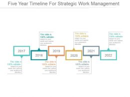 Five Year Timeline For Strategic Work Management Ppt Background