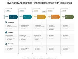 Five Yearly Accounting Financial Roadmap With Milestones
