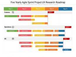 Five Yearly Agile Sprint Project UX Research Roadmap