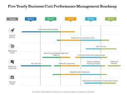 Five Yearly Business Unit Performance Management Roadmap