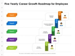 Five Yearly Career Growth Roadmap For Employee