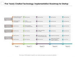 Five Yearly Chatbot Technology Implementation Roadmap For Startup