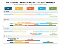 Five Yearly Client Experience Assessment Roadmap With Gap Analysis