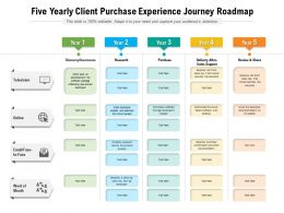 Five Yearly Client Purchase Experience Journey Roadmap