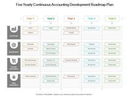 Five Yearly Continuous Accounting Development Roadmap Plan