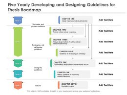 Five Yearly Developing And Designing Guidelines For Thesis Roadmap