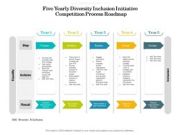 Five Yearly Diversity Inclusion Initiative Competition Process Roadmap
