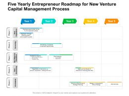 Five Yearly Entrepreneur Roadmap For New Venture Capital Management Process