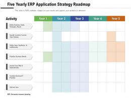 Five Yearly ERP Application Strategy Roadmap