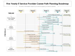Five Yearly IT Service Provider Career Path Planning Roadmap