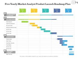 Five Yearly Market Analyst Product Launch Roadmap Plan