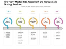 Five Yearly Master Data Assessment And Management Strategy Roadmap