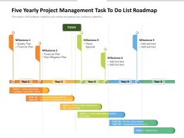 Five Yearly Project Management Task To Do List Roadmap
