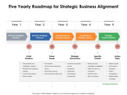 Five Yearly Roadmap For Strategic Business Alignment