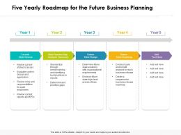 Five Yearly Roadmap For The Future Business Planning