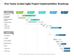 Five Yearly Scaled Agile Project Implementation Roadmap