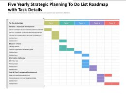 Five Yearly Strategic Planning To Do List Roadmap With Task Details