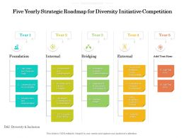 Five Yearly Strategic Roadmap For Diversity Initiative Competition