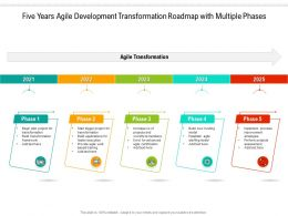 Five Years Agile Development Transformation Roadmap With Multiple Phases