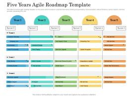 Five Years Agile Roadmap Timeline Powerpoint Template