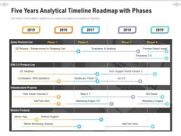 Five Years Analytical Timeline Roadmap With Phases