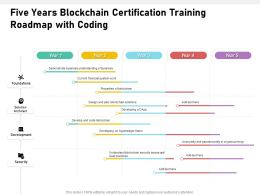 Five Years Blockchain Certification Training Roadmap With Coding