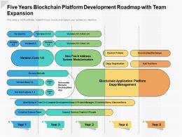 Five Years Blockchain Platform Development Roadmap With Team Expansion
