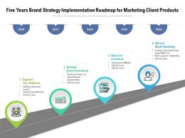 Five Years Brand Strategy Implementation Roadmap For Marketing Client Products